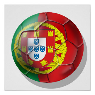 Portugal National football soccer team fans Tees Poster