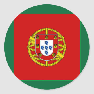 Portugal Naval Jack Classic Round Sticker