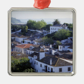 Portugal, Obidos. Elevated view of whitewashed Christmas Ornament