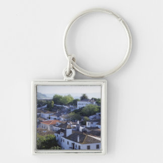 Portugal, Obidos. Elevated view of whitewashed Key Ring