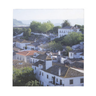 Portugal, Obidos. Elevated view of whitewashed Notepad