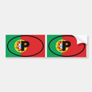 Portugal P European oval Bumper Sticker