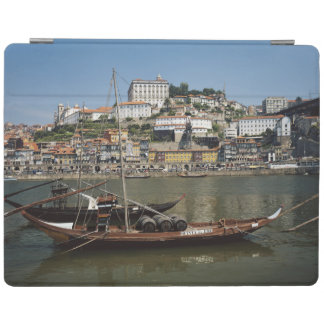 Portugal, Porto, Boat With Wine Barrels iPad Cover