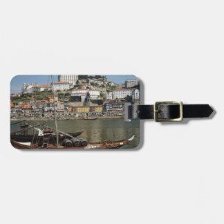 Portugal, Porto, Boat With Wine Barrels Luggage Tag
