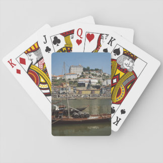 Portugal, Porto, Boat With Wine Barrels Playing Cards