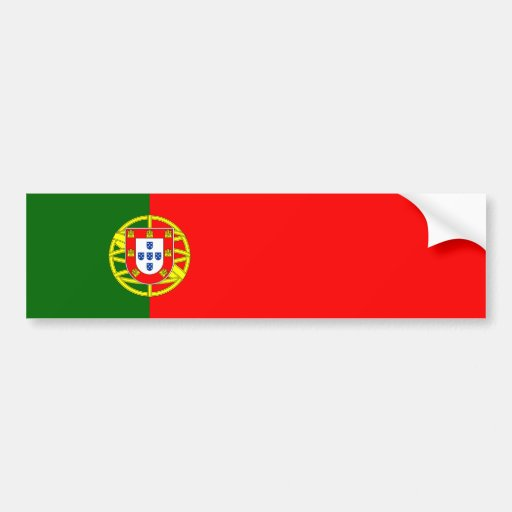 Portugal - Portuguese Flag Bumper Sticker