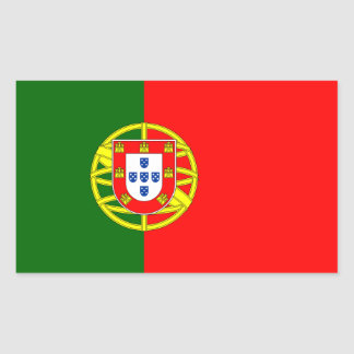 Portugal/Portuguese Flag Rectangular Sticker