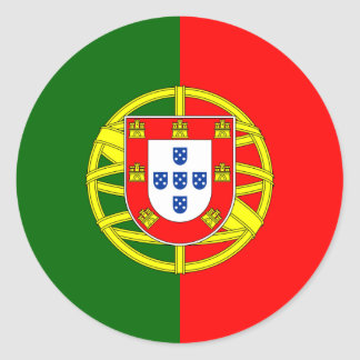 Portugal/Portuguese Flag Round Sticker