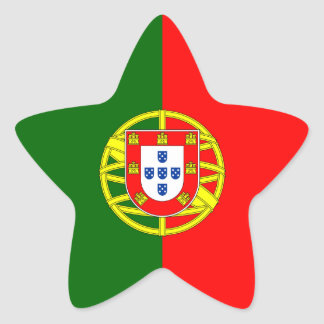 Portugal/Portuguese Flag Star Sticker
