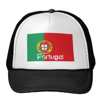Portugal portuguese flag trucker mesh souvenir hat
