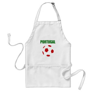 Portugal retro soccer t-shirt standard apron