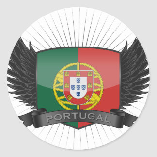 PORTUGAL ROUND STICKER