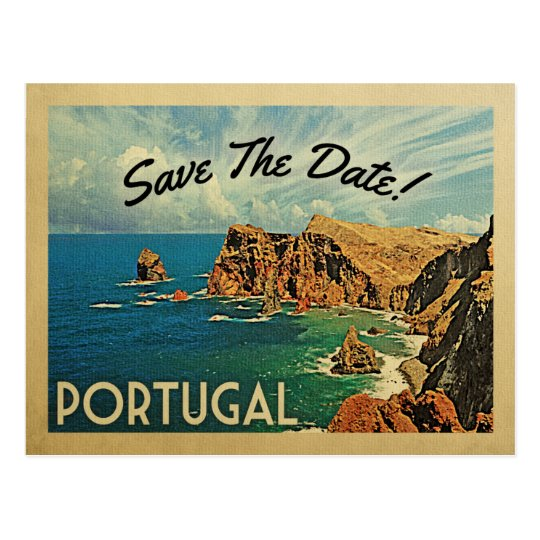 Portugal Save The Date Portuguese Madeira Postcard