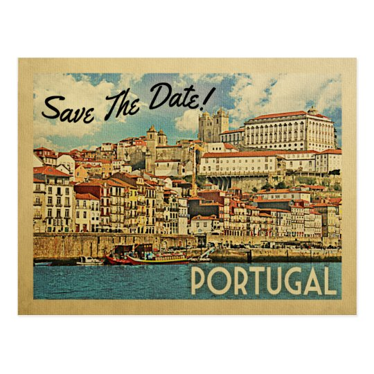 Portugal Save The Date River Douro Postcard