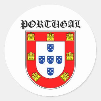 Portugal shield round sticker