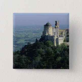 Portugal, Sintra, Pena Palace, atop Serra da 15 Cm Square Badge