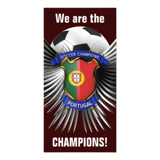 Portugal Soccer Champions Personalized Photo Card