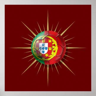 Portugal Soccer Starburst Soccer ball gifts Poster