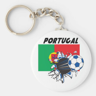 Portugal Soccer Swag Basic Round Button Key Ring