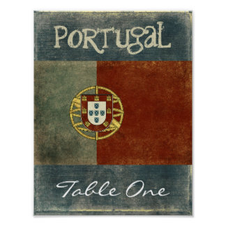 Portugal Table Number Poster