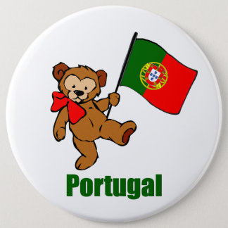 Portugal Teddy Bear Button
