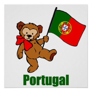 Portugal Teddy Bear Poster