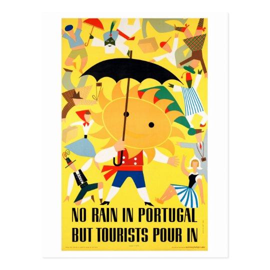 Portugal Vintage Travel Poster Restored Postcard
