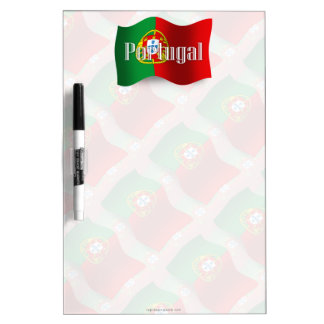 Portugal Waving Flag Dry Erase Board