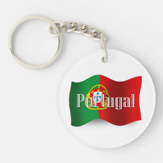 Portugal Waving Flag Key Ring