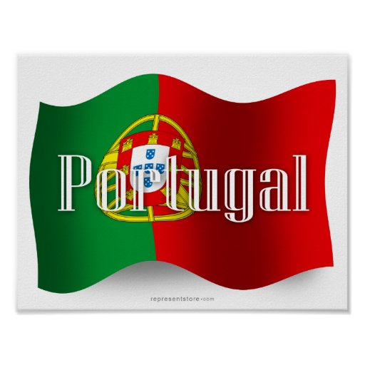 Portugal Waving Flag Posters