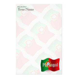Portugal Waving Flag Stationery Design