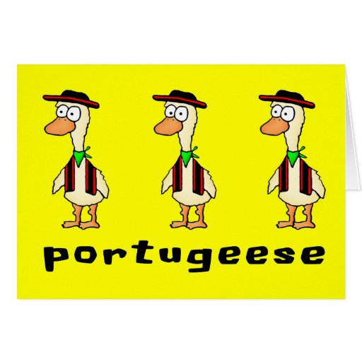 Portugeese Greeting Card