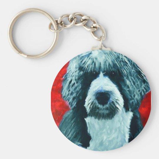 Portugese Water Dog Basic Round Button Key Ring