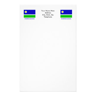 Portuguesa Flag with Name Stationery Design