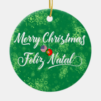 Portuguese American Decoration, Feliz Natal Christmas Ornament