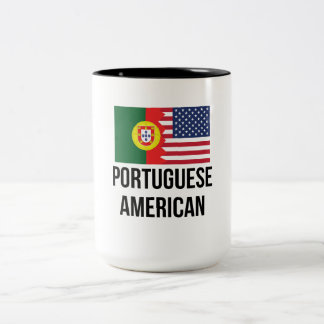 Portuguese American Flag Two-Tone Coffee Mug