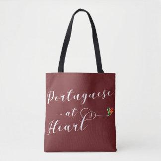 Portuguese At Heart Grocery Bag, Portugal Tote Bag