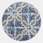 Portuguese Azulejo tiles Classic Round Sticker