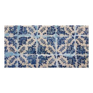 Portuguese Azulejo tiles Customised Photo Card