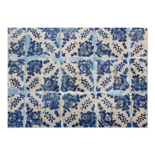 Portuguese Azulejo tiles 13 Cm X 18 Cm Invitation Card