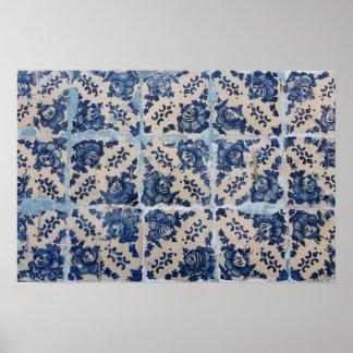 Portuguese Azulejo tiles Posters