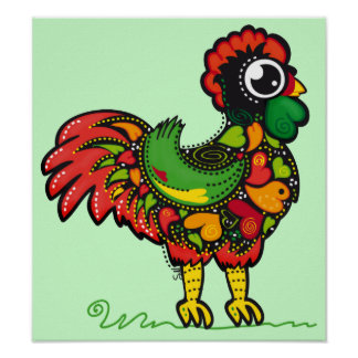 Portuguese Barcelos Rooster Poster