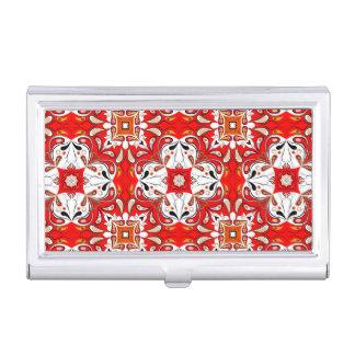Portuguese Ceramic Tile Pattern Business Card Holder