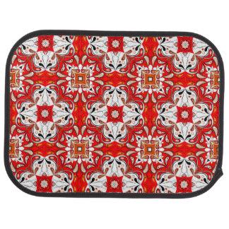 Portuguese Ceramic Tile Pattern Car Mat