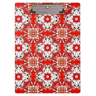 Portuguese Ceramic Tile Pattern Clipboard