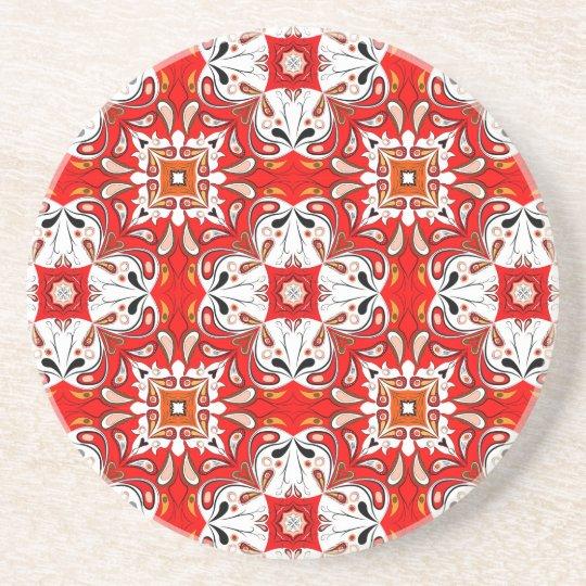Portuguese Ceramic Tile Pattern Coaster