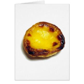 Portuguese custard tart card