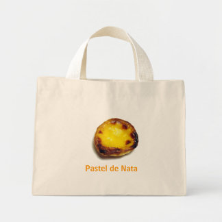 Portuguese custard tart mini tote bag