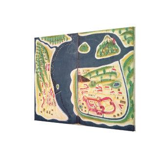 Portuguese exploration map of Mombassa Canvas Print