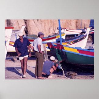 Portuguese Fishermen Poster